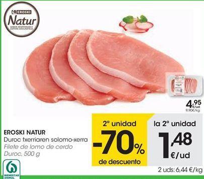 Oferta de Filete de lomo de cerdo Duroc EROSKI NATUR por 4,95€