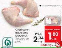 Oferta de Traseros de pollo  por 2,34€