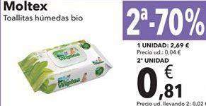 Oferta de Toallitas Húmedas Bio Moltex  por