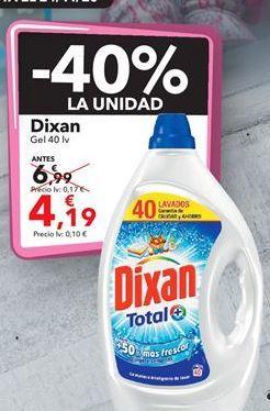 Oferta de Dixan Gel  por 4,19€