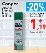 Oferta de Cooper Alcohol limpieza Hogar  por 1,19€
