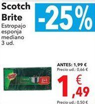 Oferta de Scotch-Brite estropajo esponja mediano  por 1,49€