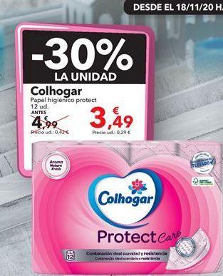 Oferta de Papel higiénico protect Colhogar  por 3,49€