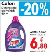 Oferta de Colon Detergente gel vanish por 6,88€