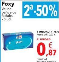 Oferta de Foxy Veline pañuelos faciales  por 1,75€
