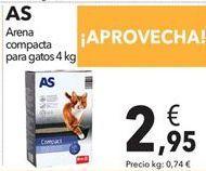 Oferta de Arena compacta para gatos  por 2,95€