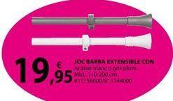 Oferta de JOC BARRA EXTENSIBLE CON por 19,95€