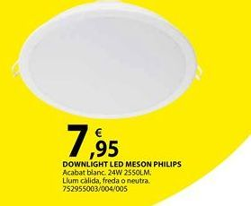Oferta de DOWNLIGHT LED MESON PHILIPS por 7,95€