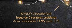 Oferta de Juego de 6 cucharas cocteleras  por 11,95€