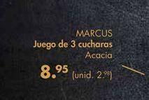 Oferta de Juego de 3 cucharas Marcus por 8,95€