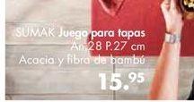 Oferta de Juego para tapas Sumak por 15,95€