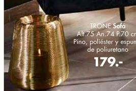 Oferta de Sofá pino, poliester y espuma de poliuretano  trone por 179€