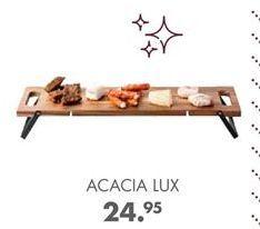 Oferta de ACACIA LUX Tabla para servir negro, natural A 1.8 x An. 56 x P 18 cm por 24,95€
