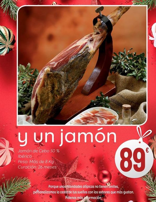 Oferta de Jamón ibérico de cebo por 89€