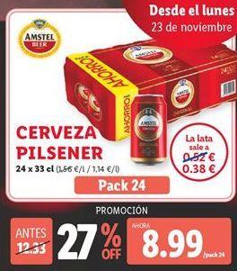 Oferta de Cerveza Amstel por 8,99€
