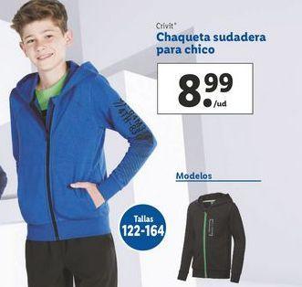 Oferta de Chaqueta sudadera para chico Crivit por 8,99€