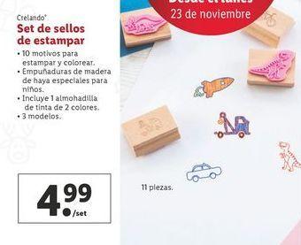 Oferta de Set de sellos de estampar crelando por 4,99€