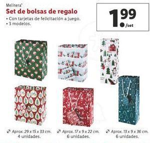 Oferta de Set de bolsas de regalo melinera por 1,99€