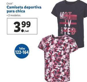 Oferta de Camiseta deportiva para chica Crivit por 3,99€