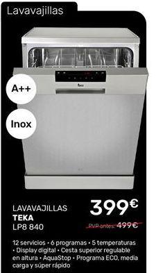 Oferta de Lavavajillas Teka por 399€