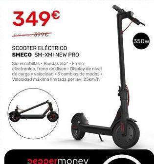 Oferta de Scooter eléctrico SMECO por 349€