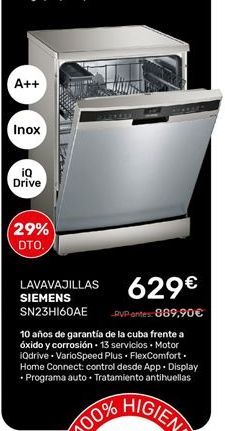 Oferta de Lavavajillas Siemens por 629€