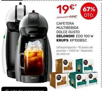 Oferta de Cafetera de cápsulas DeLonghi por 19€