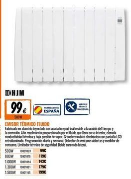Oferta de Emisor térmico de fluido HJM por 99€