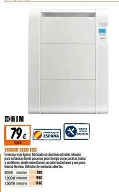 Oferta de Emisor térmico seco HJM por 79€