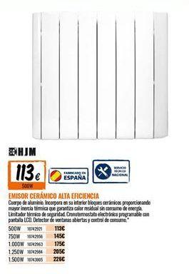 Oferta de Emisor térmico cerámico HJM por 113€