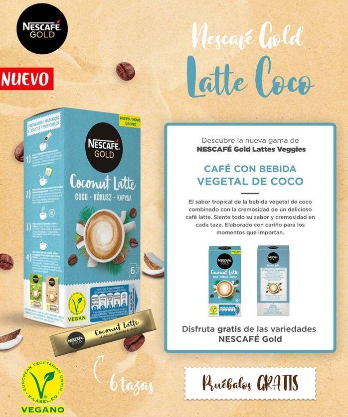 Oferta de Café con bebida vegetal de coco por