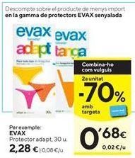 Oferta de Protegeslip Evax por 2,28€