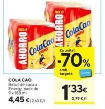 Oferta de Batido de cacao Cola Cao por 4,45€
