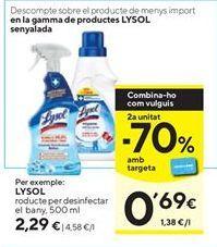 Oferta de Desinfectante Lysol por 2,29€