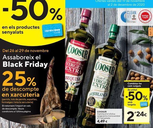 Oferta de Aceite de oliva virgen extra Coosur por 4,49€