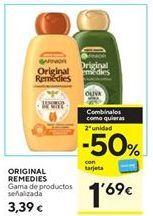 Oferta de Productos para el cabello Garnier por 3,39€