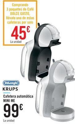 Oferta de Cafetera automática MINI ME DeLonghi KRUPS por 99€