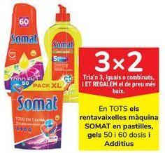 Oferta de En TODOS los lavavcajillas maquina SOMAT en pastillas, geles y Aditivos  por