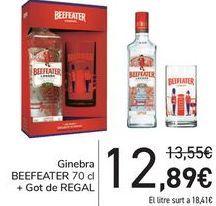 Oferta de Ginebra BEEFEATER + Vaso de REGALO  por 12,89€