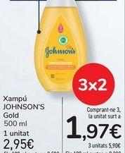 Oferta de Champú JOHNSON'S Gold por 2,95€