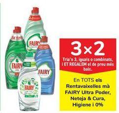 Oferta de En TODOS los lavavajillas mano FAIRY Ultra Poder, Limpieza & Cuidado, Higiene y 0% por