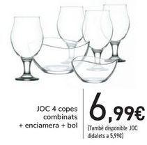 Oferta de SET 4 Copas combinados + ensaladera + bol  por 6,99€