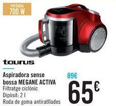 Oferta de Aspirador sin bolsa MEGANE ACTIVE Taurus  por 65€