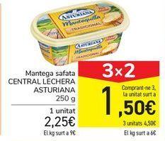 Oferta de Mantequilla barqueta CENTRAL LECHERA ASTURIANA por 2,25€