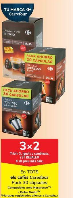 Oferta de En TODOS los cafés Carrefour por