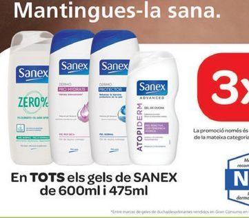 Oferta de En TODOS los geles SANEX  por