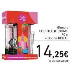 Oferta de Ginebra PUERTO DE INDIAS + Vaso de regalo  por 14,25€