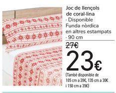 Oferta de Juego de sábanas Coralina  por 23€