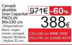 Oferta de Arcón Gran Capacidad PIKOLIN 90x190 por 388€