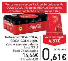 Oferta de Refresco COCA-COLA, COCA-COLA LIGHT, Zero o Zero sin cafeína  por 14,64€